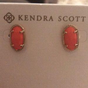 Kendra Scott peach/ pinkish Earring studs